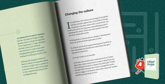 Ethical Design Handbook, inner preview
